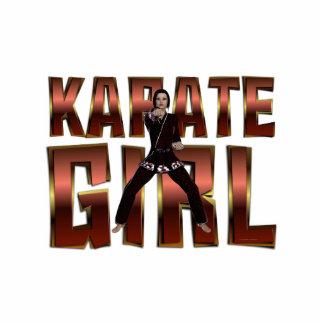 TOP Karate Girl Standing Photo Sculpture