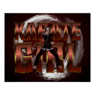 TOP Karate Girl Poster