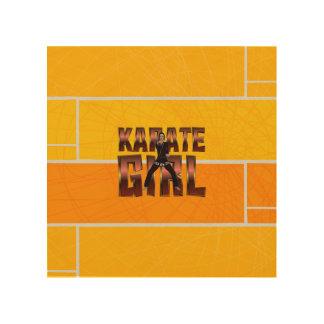 TOP Karate Girl Wood Wall Art