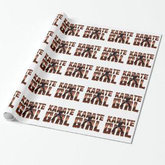TOP Karate Girl Gift Wrap Paper