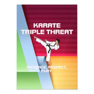 TOP Karate Slogan Magnetic Card