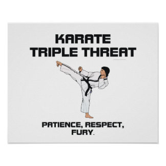 TOP Karate Slogan Poster