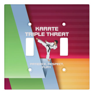 TOP Karate Triple Threat Light Switch Cover
