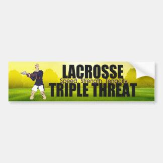 TOP Lacrosse Triple Threat Bumper Sticker