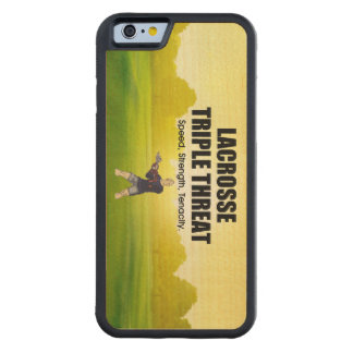 TOP Lacrosse Triple Threat Carved Maple iPhone 6 Bumper Case
