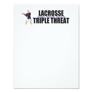 TOP Lacrosse Triple Threat Personalized Announcement