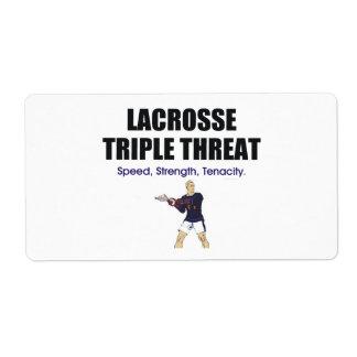 TOP Lacrosse Triple Threat Label