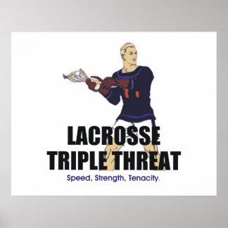 TOP Lacrosse Triple Threat Poster