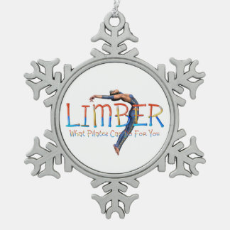 TOP Limber Pilates Snowflake Pewter Christmas Ornament
