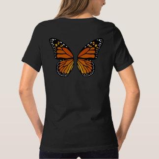 Top lindo de la mariposa de los chicas de las