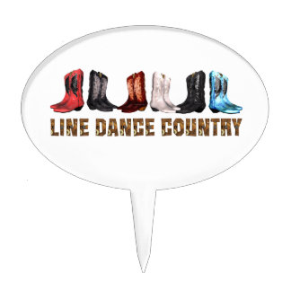 TOP Line Dance Country Cake Topper