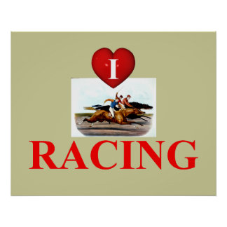 TOP Love Horse Racing Poster