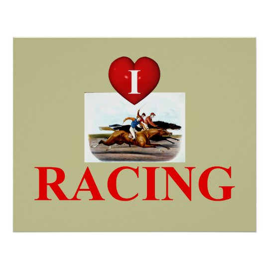 TOP Love Horse Racing Poster