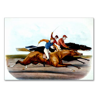 TOP Love Horse Racing Table Cards