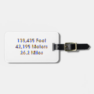 TOP Marathon Numbers Bag Tag