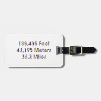 TOP Marathon Numbers Travel Bag Tag