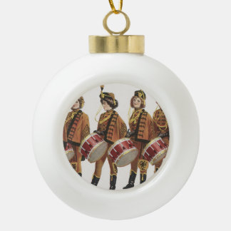 TOP Marching Band Fan Ceramic Ball Christmas Ornament