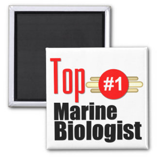 Top Marine Biologist Fridge Magnets