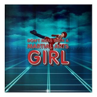 TOP Martial Arts Girl Acrylic Wall Art