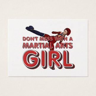 TOP Martial Arts Girl Business Card