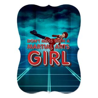 TOP Martial Arts Girl Personalized Invite