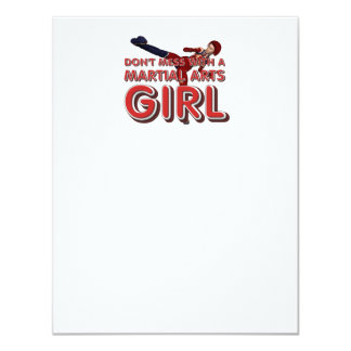 TOP Martial Arts Girl Custom Invite