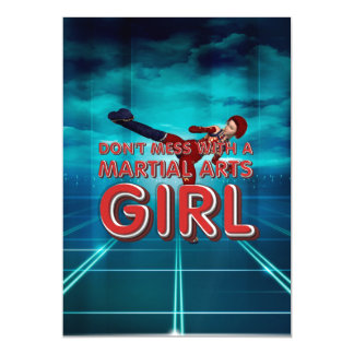TOP Martial Arts Girl Magnetic Card