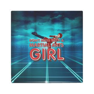 TOP Martial Arts Girl Metal Print