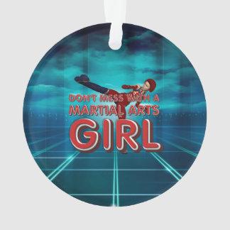 TOP Martial Arts Girl Ornament