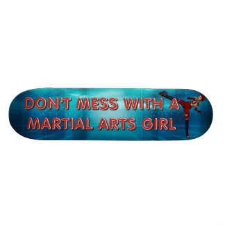TOP Martial Arts Girl Skateboard Deck