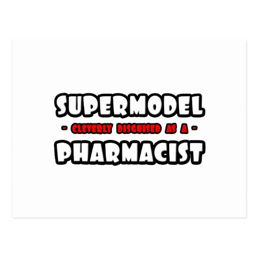 Top model. Farmacéutico Postales