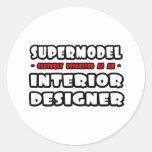 Top model. Interiorista Etiqueta Redonda