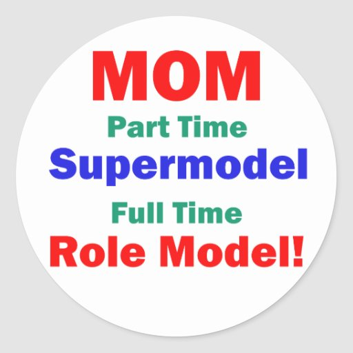 Top model por horas de la mamá pegatina redonda