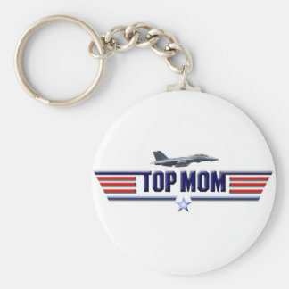 Top Mom Logo Keychain