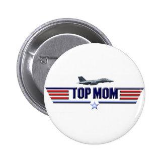 Top Mom Logo Pinback Button