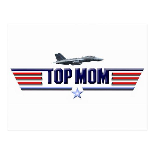 Top Mom Logo Postcard