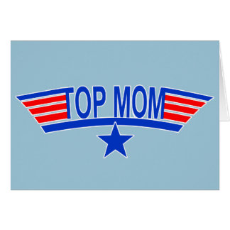 TOP MOM Military Mom Greeting Card