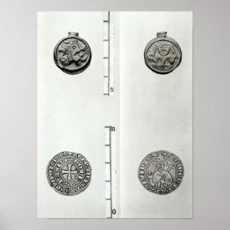 Top: Moneda Gaulish del anverso de Remes Poster