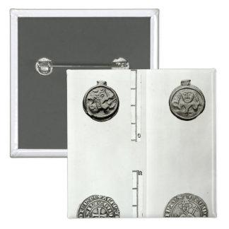 Top: Moneda Gaulish del anverso de Remes Pin Cuadrado