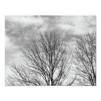 """Top monocromático del árbol invitación 4.25"""" x 5.5"""""""