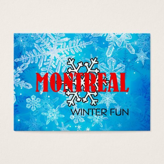 TOP Montreal Winter Fun Business Card