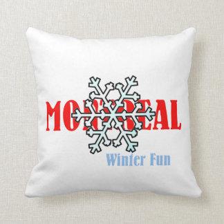 TOP Montreal Winter Fun Throw Pillow