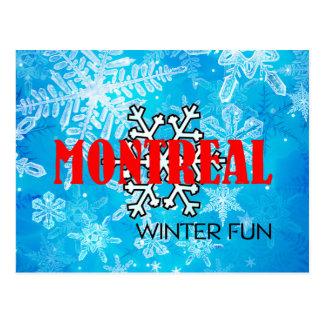 TOP Montreal Winter Fun Postcard