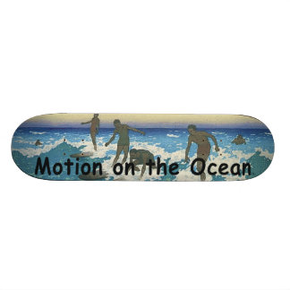 TOP Motion on the Ocean Skateboard Deck