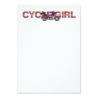 TOP Motorcycle Girl Card