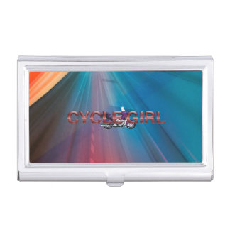 TOP Motorcycle Girl Case For Business Cards
