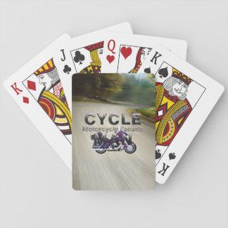 TOP Motorcycle Man Poker Deck