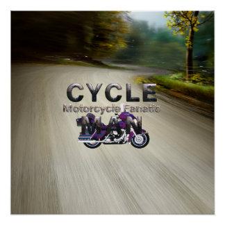 TOP Motorcycle Man Poster