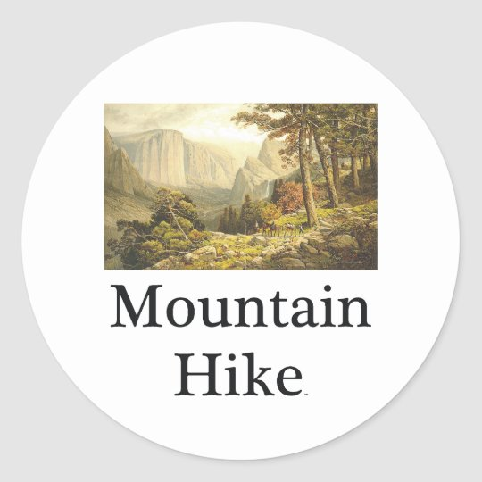 TOP Mountain Hike Classic Round Sticker
