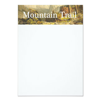 TOP Mountain Hike 5x7 Paper Invitation Card